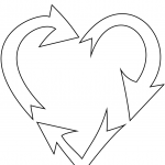 Heart Shaped Recycling Sign