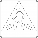 """Pedestrian Crossing"" Sign in Spain"