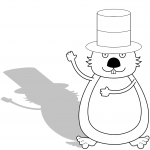 Groundhog with Shadow