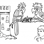 Parrots Playing Chess