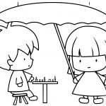 Children Playing Chess While Raining
