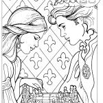 Princess and Prince Playing Chess
