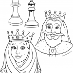 Queen and King Chess Pieces