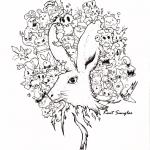 Ogon królika Doodle stworzony przez...