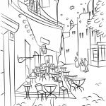 Taras kawiarni w nocy Vincenta Van...
