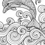 Zentangle Dolphin with Scrolling...
