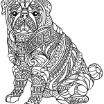 Pug Dog Zentangle