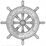 Marine Handwheel Zentangle