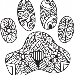 Cat Paw Print Zentangle