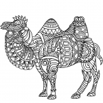 Bactrian Camel Zentangle