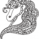 Horse Head Zentangle