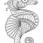Sea Horse Zentangle
