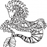 Hippocampus Zentangle