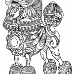 Poodle Zentangle