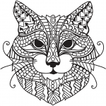 Zentangle Cat Head
