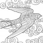 Swallow in the Sky Zentangle