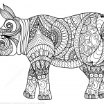 Zentangle Rhino
