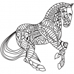 Trotting Horse Zentangle