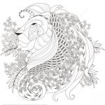 Zentagle Lion with Floral Elements