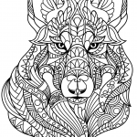 Wolf Head Zentangle