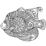Angelfish Zentangle