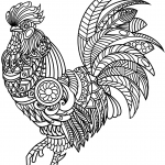 Rooster Zentangle