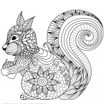 Lovely Squirrel Zentangle