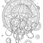 Jellyfish with Tribal Pattern