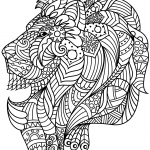 Lion Head Zentangle