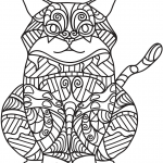 Sitting Cat Zentangle