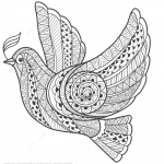 Zentangle Dove of Peace