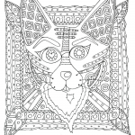 Fox with Tribal Pattern