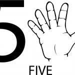 Znak ASL numer pięć