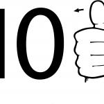 Znak ASL numer dziesięć
