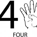 Znak ASL numer cztery