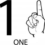 Znak ASL numer jeden