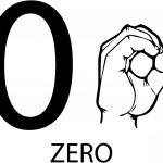 Znak ASL numer zero