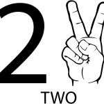 Znak ASL numer dwa