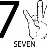 Znak ASL numer siedem