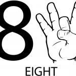 Znak ASL numer osiem