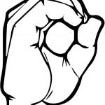 Znak ASL numer 0