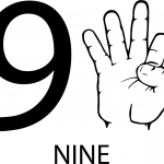 Znak ASL numer dziewięć