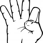 Znak ASL numer 9