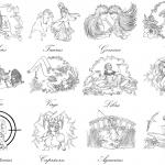 Rozjaśnione znaki zodiaku stworzone...
